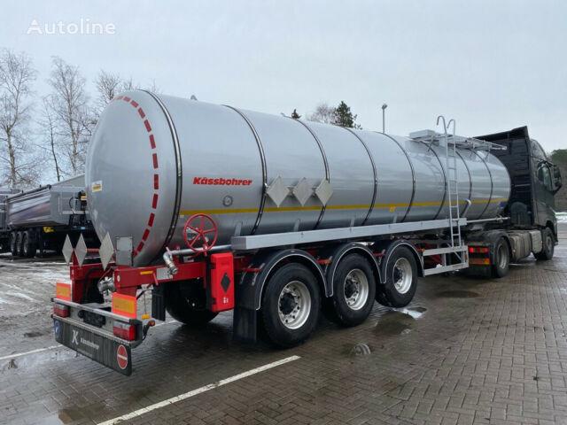 new KASSBOHRER Edelstahl Bitumen Tankauflieger 32m³ bitumen tank trailer