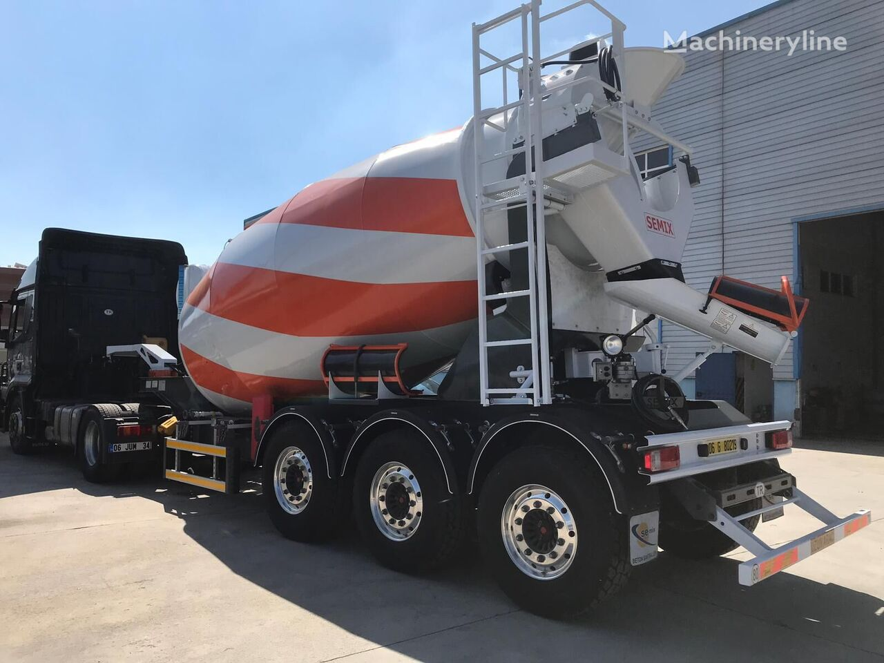 new SEMIX Semi Trailer Mixer 12 concrete mixer truck