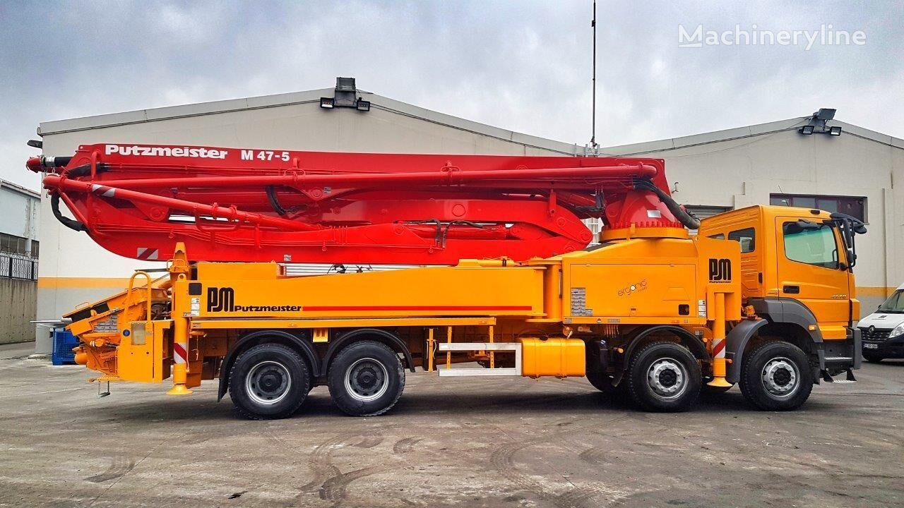 Putzmeister BSF 47-5.16H on chassis MERCEDES-BENZ Axor 4140 - 2015 Putzmeister 47 METER concrete pump