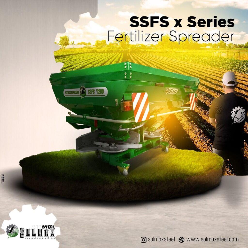 new SOLMAX STEEL SSSF x900  mounted fertilizer spreader