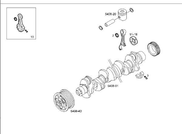 Cigueñal Iveco Stralis AS 440S48 (99438979) crankshaft for IVECO Stralis AS 440S48 tractor unit