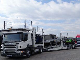 SCANIA P 410 / AUTOTRANSPORTER / ROLFO EGO 4 + ROLFO DYNAMIC 7/ RETARDE car transporter + car transporter trailer