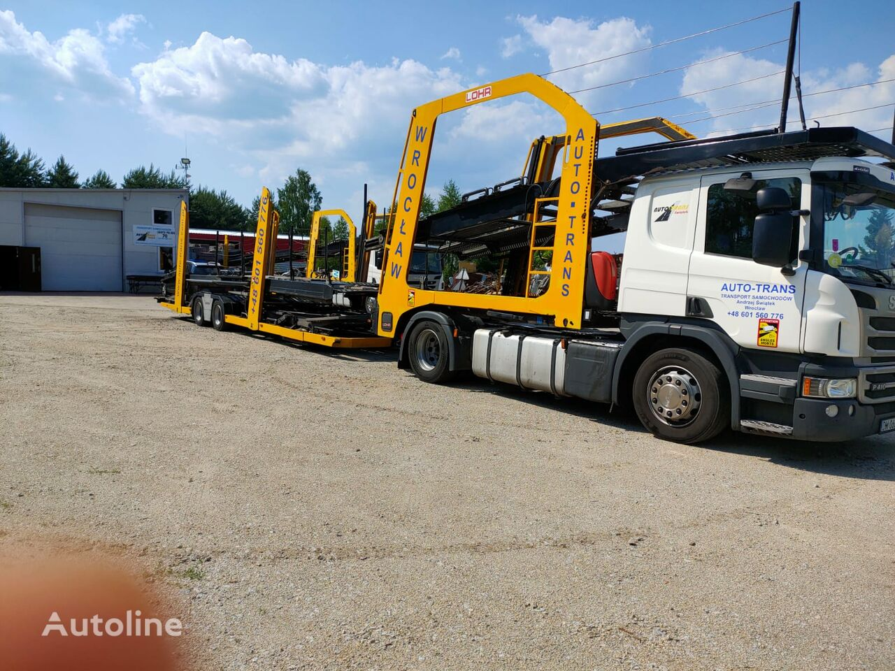 SCANIA Eurolohr car transporter + car transporter trailer