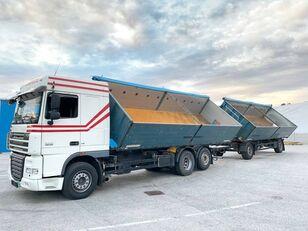 DAF  FAR XF105.460  6x2 3 old Billencs Szerelvénnyel dump truck