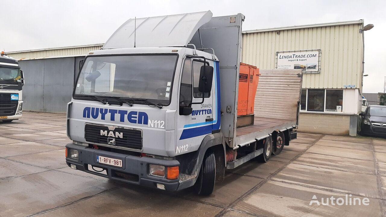 MAN 12.160 L2000 6x2 Euro 1 Manual pump flatbed truck