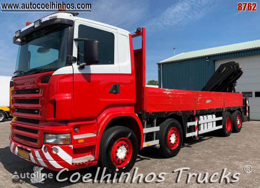 SCANIA R 380 flatbed truck