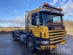 SCANIA P124 hook lift truck