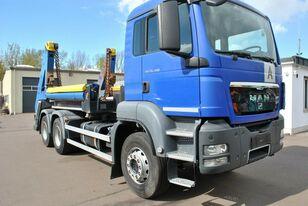 MAN TGS 26.400 6x4 skip loader truck