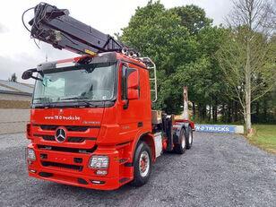 MERCEDES-BENZ Actros 3360 -6x4-hiab crane-steel suspension-alcoa timber truck